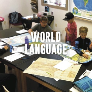 World language: students working on map skills