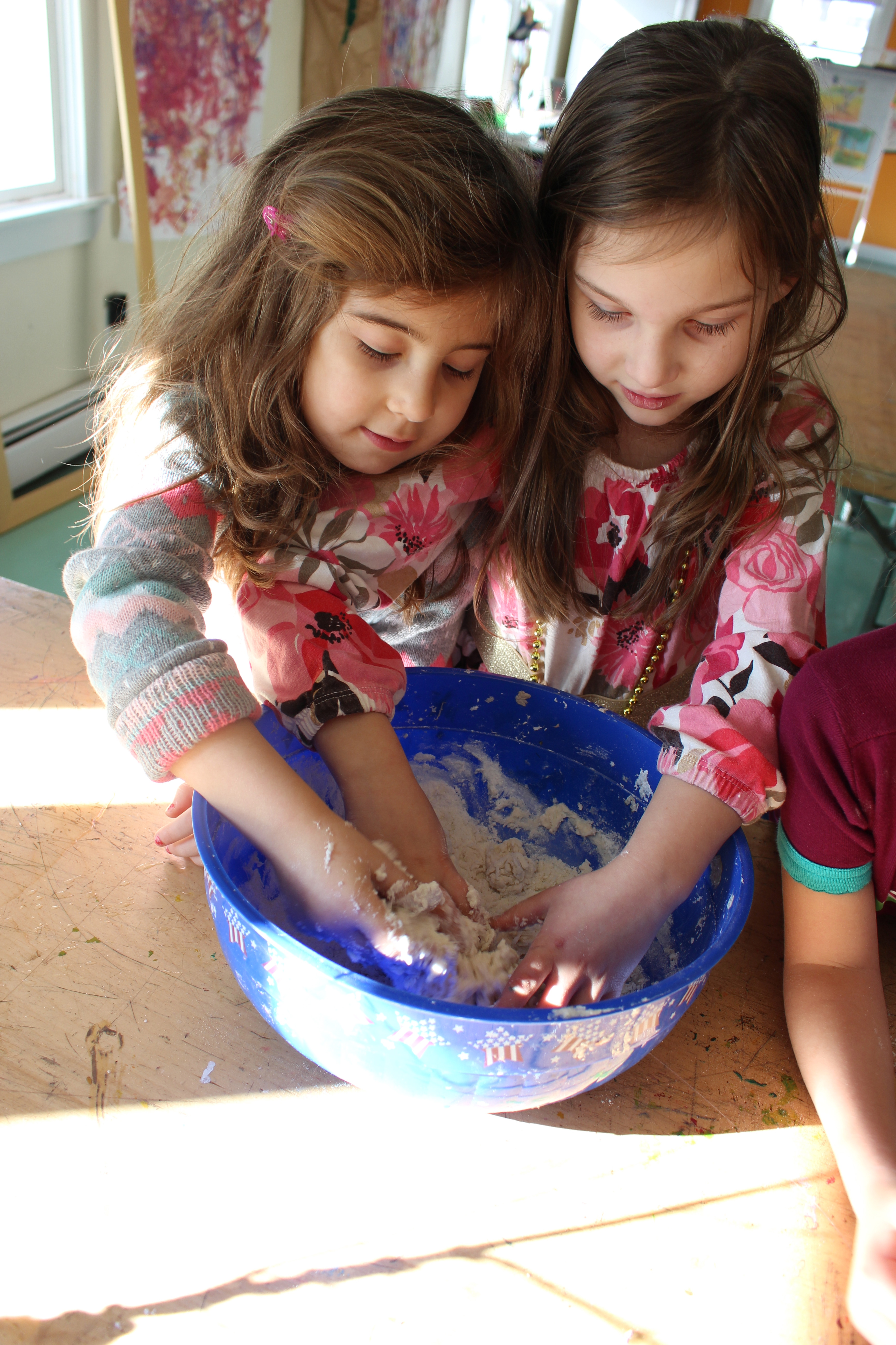 Sparhawk students baking bread.